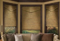 Provenance natural shades in a living room
